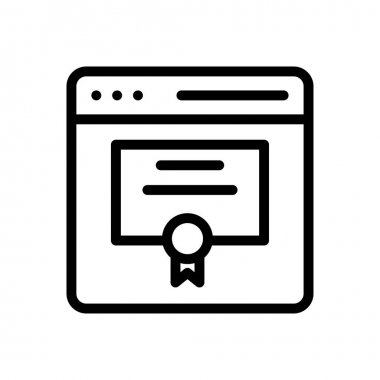 Online certificate Icon for website design and desktop envelopment, development. premium pack. icon