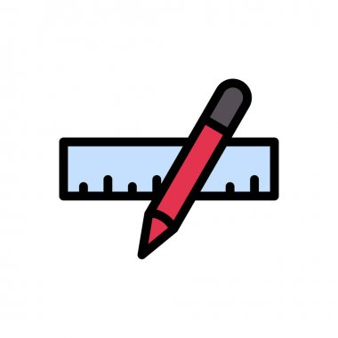 Ruler pencil Icon for website design and desktop envelopment, development. premium pack. icon