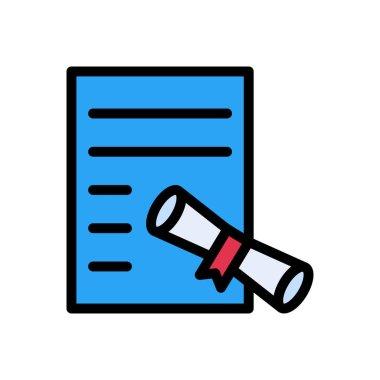 Degree file Icon for website design and desktop envelopment, development. premium pack. icon