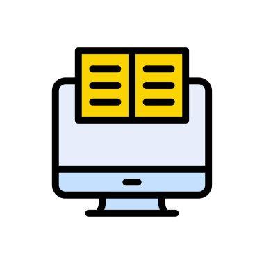 Online study Icon for website design and desktop envelopment, development. premium pack. icon