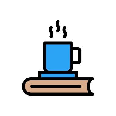 Tea book Icon for website design and desktop envelopment, development. premium pack. icon