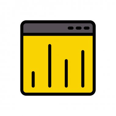 Webpage stats Icon for website design and desktop envelopment, development. premium pack. icon