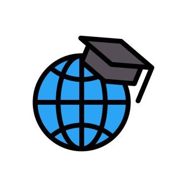 Online graduation Icon for website design and desktop envelopment, development. premium pack. icon