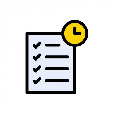 Exams time Icon for website design and desktop envelopment, development. premium pack. icon