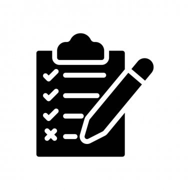 Clipboard test Icon for website design and desktop envelopment, development. premium pack. icon