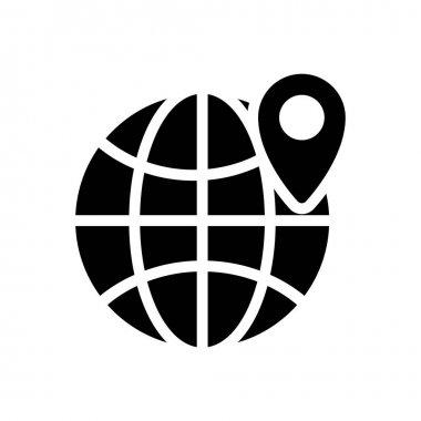 Global location Icon for website design and desktop envelopment, development. premium pack. icon