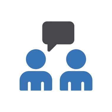 Students chat Icon for website design and desktop envelopment, development. premium pack. icon