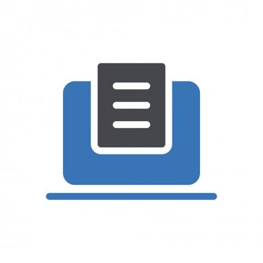 Online notes Icon for website design and desktop envelopment, development. premium pack. icon