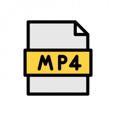 Mp4 file Icon for website design and desktop envelopment, development. premium pack. icon