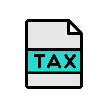 Tax file Icon for website design and desktop envelopment, development. premium pack. icon