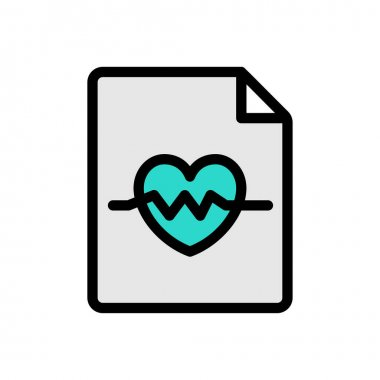 Heart file Icon for website design and desktop envelopment, development. premium pack. icon