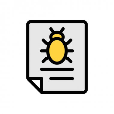 Malware file Icon for website design and desktop envelopment, development. premium pack. icon