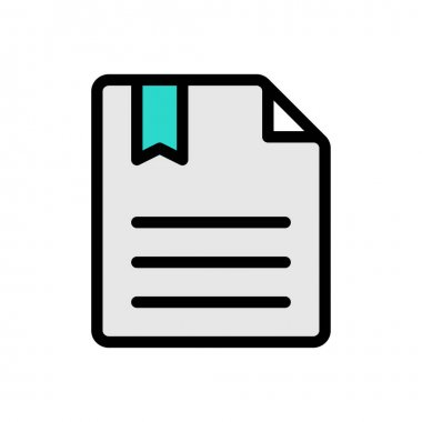 Bookmark file Icon for website design and desktop envelopment, development. premium pack. icon