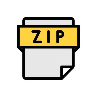 Zip file Icon for website design and desktop envelopment, development. premium pack. icon