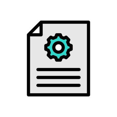 File setting Icon for website design and desktop envelopment, development. premium pack. icon