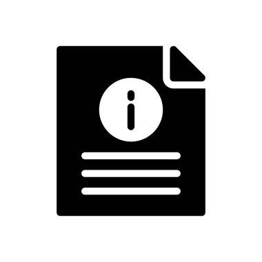 Info file Icon for website design and desktop envelopment, development. premium pack. icon