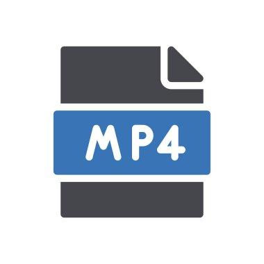 Mp4 file Icon for website design and desktop envelopment, development. premium pack. icon