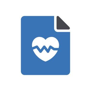Heart file Icon for website design and desktop envelopment, development. premium pack. icon