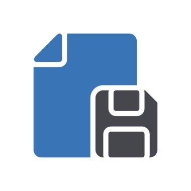 Floppy file Icon for website design and desktop envelopment, development. premium pack. icon