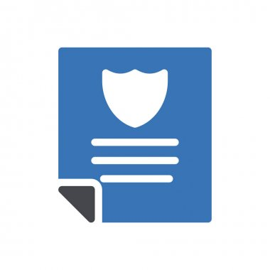 Shield file Icon for website design and desktop envelopment, development. premium pack. icon