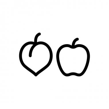 Fruit diversity Icon for website design and desktop envelopment, development. premium pack. icon