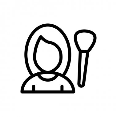 Female makeup Icon for website design and desktop envelopment, development. premium pack. icon