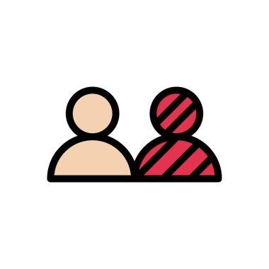 Human diversity Icon for website design and desktop envelopment, development. premium pack. icon