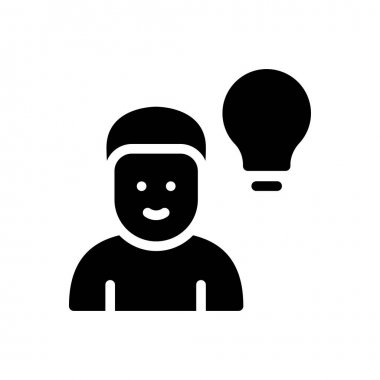 Man idea Icon for website design and desktop envelopment, development. premium pack. icon