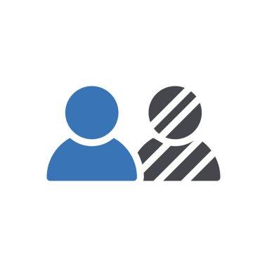 Human racial Icon for website design and desktop envelopment, development. premium pack. icon