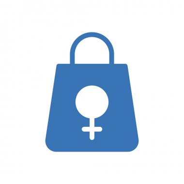 Female grocery packet Icon for website design and desktop envelopment, development. premium pack. icon