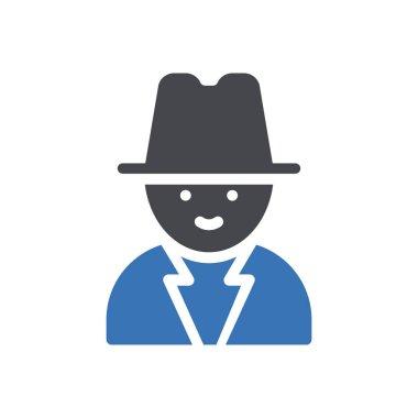 Man diversity Icon for website design and desktop envelopment, development. premium pack. icon