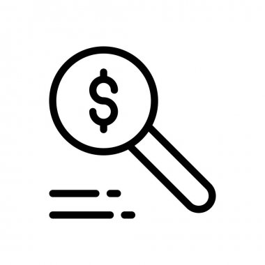 Search dollar Icon for website design and desktop envelopment, development. premium pack. icon