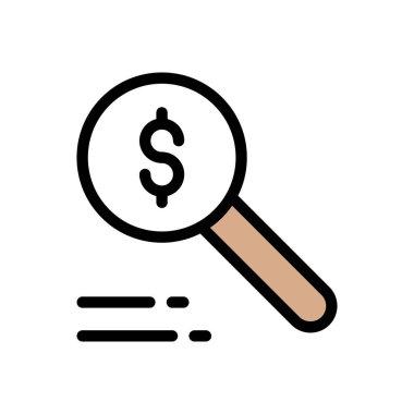 Search dollar Icon for website design and desktop envelopment, development. premium pack. icon