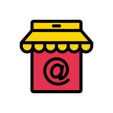 Online store Icon for website design and desktop envelopment, development. premium pack. icon