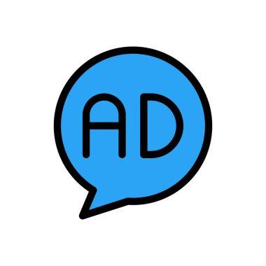 Ad Icon for website design and desktop envelopment, development. premium pack. icon