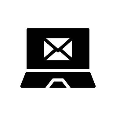 Email laptop Icon for website design and desktop envelopment, development. premium pack. icon