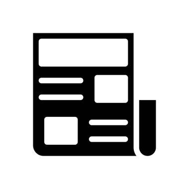 Newspaper Icon for website design and desktop envelopment, development. premium pack. icon