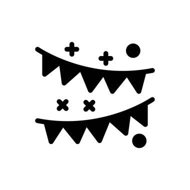 Buntings  Icon for website design and desktop envelopment, development. premium pack. icon