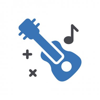 Guitar Icon for website design and desktop envelopment, development. premium pack. icon