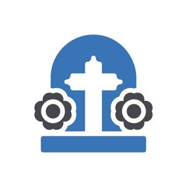 Grave Icon for website design and desktop envelopment, development. premium pack. icon