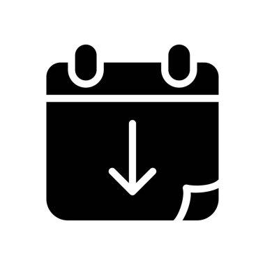 Date Icon for website design and desktop envelopment, development. premium pack. icon