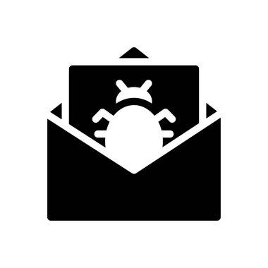 Virus Icon for website design and desktop envelopment, development. premium pack. icon