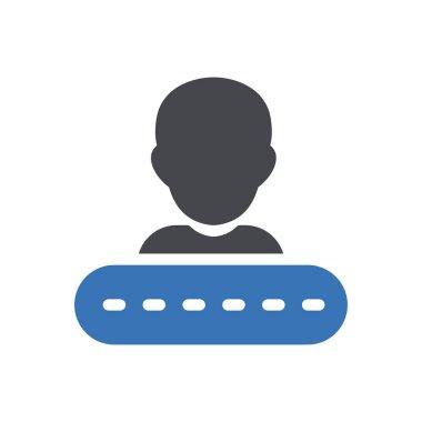 Login Icon for website design and desktop envelopment, development. premium pack. icon