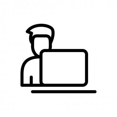 User  Icon for website design and desktop envelopment, development. premium pack. icon
