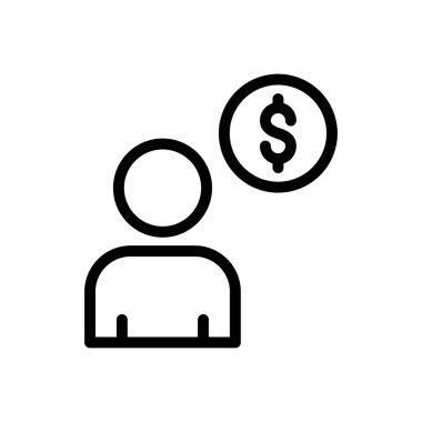 Profile Icon for website design and desktop envelopment, development. premium pack. icon
