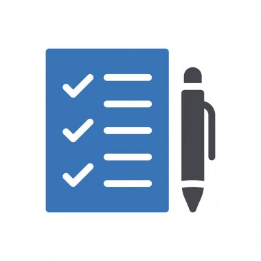 Checklist  Icon for website design and desktop envelopment, development. premium pack. icon