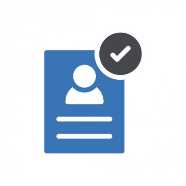 Resume Icon for website design and desktop envelopment, development. premium pack. icon