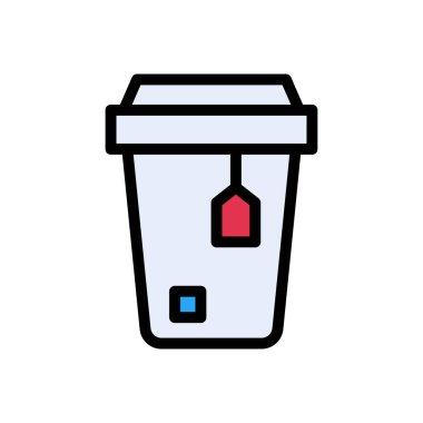 Tea bag  Icon for website design and desktop envelopment, development. premium pack. icon