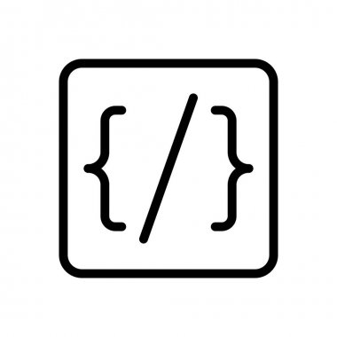 Coding Icon for website design and desktop envelopment, development. premium pack. icon
