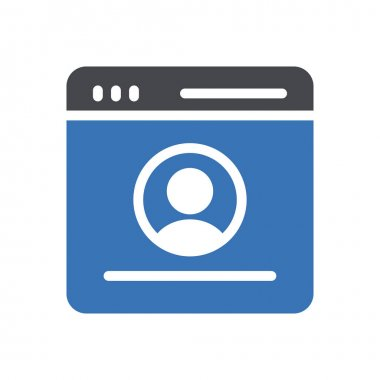 Profile  Icon for website design and desktop envelopment, development. premium pack. icon